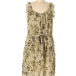 Ann Taylor green printed dress size 12